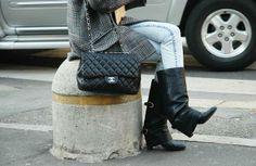 Chloe coat Chanel bag