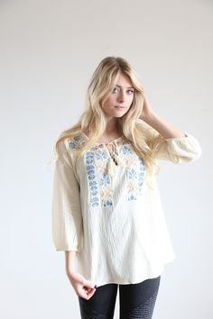 The Callie Embroidered Blouse