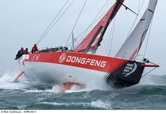 Photo by Rick Tomlinson - The Volvo Ocean Race boats were doing a test race around the Isle of Wight, conditions were not good but I new there wou. Smoke On The Water, Volvo Ocean Race, Photography Competitions, Isle Of Wight, Marines, Sailing, Photo Galleries, History, Boats