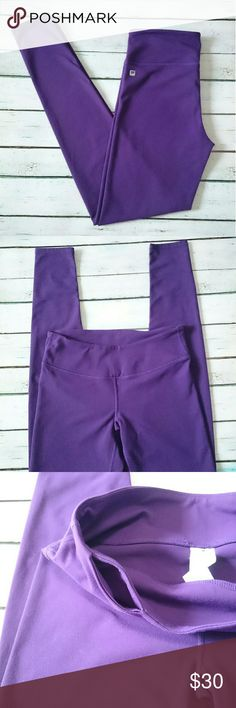 Fabletics Leggings Purple Salar leggings from Fabletics. Hidden pocket on right, front side of waist band. Really nice material. Excellent condition, NWOT. I only got to wear them once before I got pregnant, now they just don't fit. Fabletics Pants Leggings