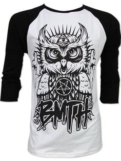So satanic ...OWL Bring Me The Horizon BMTH Oliver Sykes Long Sleeve T Shirt Sz S,M,L on Etsy, $22.99