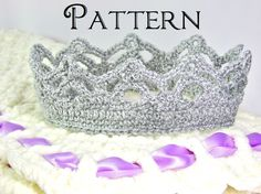 Crochet+PATTERN+Crown+for+Girl++All+Ages++Tutorial+by+TheLilliePad,+$2.99