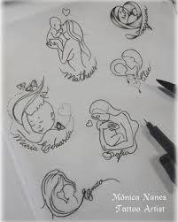 Resultado de imagen para desenho mae e filha tattoo