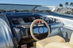 Helm Station - Riva #Yacht - Rivarama Super on display at the #MiamiBoatShow 2015, 12-16 Feb 2015. #luxury #riva #MadeInItaly #Mybs2015
