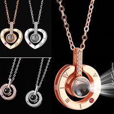 Rose Gold Silver 100 languages I love you Projection Pendant 14 Love Necklace, Washer Necklace, Oliver Smith, Oct 1, I Love You, My Love, Languages, Rose Gold, Valentines