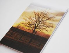 Tree silhouette photo notepad by NewCreatioNZ on Etsy, $6.00