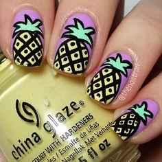 pineapple nail art #nail #nails #nailart