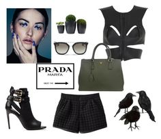 """Untitled #2460"" by teodoragucunski ❤ liked on Polyvore featuring Fleet Ilya, Prada and Burberry"