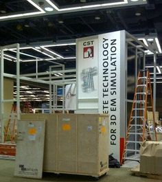 Preparations just beginning for our booth at IMS.