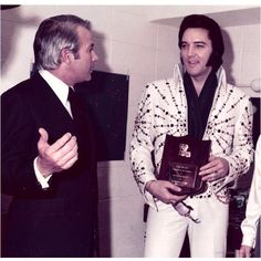 Louisiana Governor Edwin Edwards and Elvis Presley lol only in LA