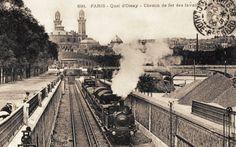 Les gares du Paris d'antan Le chemin de fer des Invalides au quai d'Orsay, vers 1900.