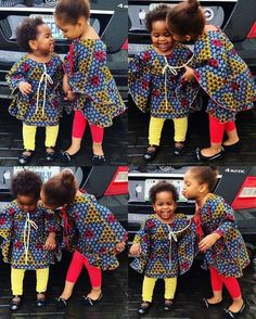 Ankara Xclusive: Check Out The Most Amazing Ankara Outfit For Kids Baby African Clothes, African Dresses For Kids, Latest African Fashion Dresses, Dresses Kids Girl, African Print Fashion, Kids Outfits, African Children, Ankara Fashion, African Attire
