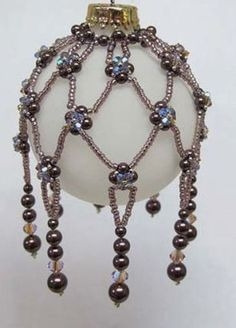 beaded christmas ornaments patterns free - Google Search