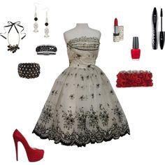 40's inspired retro dress