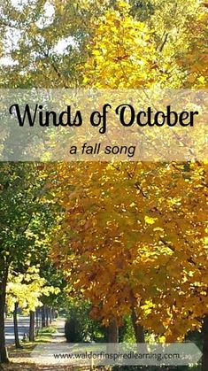 Want to bring more music into your homeschool? Learn to sing this lovely fall song and play it on recorder: The Winds of October ⋆ Waldorf-Inspired Learning