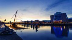 Photograph Dublin Sunset by Paul Flynn on Dublin, Opera House, Landscapes, Photograph, River, Sunset, Building, Paisajes, Photography