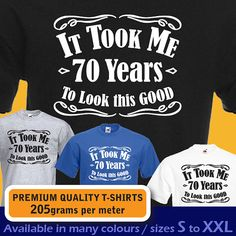 It took me 70 YEARS to look this GOOD swirls design by davesdisco, £9.95