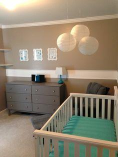 Baby Boy Nursery - love the colors