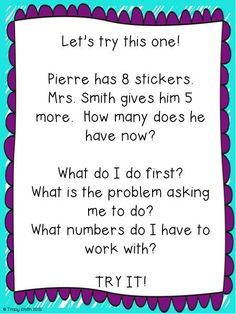 Adding and Subtracting to 20 - Word Problems!  Easy to use lesson with little prep!  Includes lots of chances to talk about the process with fun and engaging activities for all levels of learners!  Grades 1 -  2