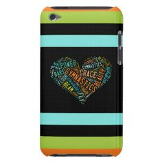 Gymnastics Heart Collage iPod Touch Case
