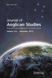 Journal of Anglican Studies - http://journals.cambridge.org/ast