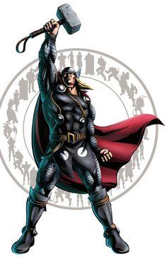 Mighty Thor Holding Hammer Mjölnir #Thor  #marvelcomics