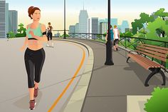 Buy Woman Running in a Park in the City by artisticco on GraphicRiver. A vector illustration of Beautiful Woman Running in a Park in the City Cartoon People, Cartoon City, Running Women, Woman Running, Running Drawing, Fitness Backgrounds, City Vector, City People, Woman Illustration