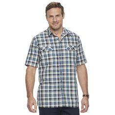 Big & Tall Croft & Barrow® Classic-Fit Quick-Dry Outdoor Button-Down Shirt, Men's, Size: L Tall, Blue
