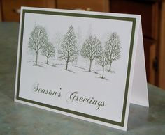 Set of 4 Handmade Christmas Cards Stampin Up by WhimsyArtCards