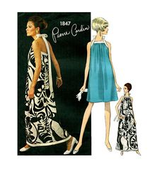 Your place to buy and sell all things handmade Vintage Dress Patterns, Vintage Dresses, Vintage Outfits, Pierre Cardin, Vintage Glam, Vintage Ladies, 1960s Fashion, Vintage Fashion, Patron Vintage