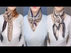20 Ways To Wear a Scarf + How-To Tips - Babykleidung Ways To Tie Scarves, Ways To Wear A Scarf, How To Wear Scarves, Scarf Tying Tutorial, Scarf Knots, Looks Street Style, Clothing Hacks, Sweet Dress, Neck Scarves