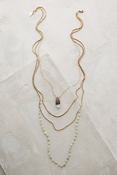 Isequilla Layered Necklace #anthropologie
