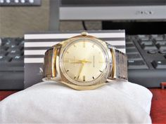 Vtg 1966 Bulova .0015 Gold Electroplate Bezel Men's Watch w/ 14K R.G.P. Band! #Bulova #DressFormal Bulova Watches, Michael Kors Watch, Omega Watch, Watches For Men, Band, Accessories, Jewelry, Top Mens Watches, Jewlery