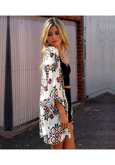 #Kimono con motivos étnicos de kaleidoskopic.