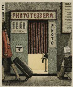 Italian illustrator Franco Matticchio (b. 1957).
