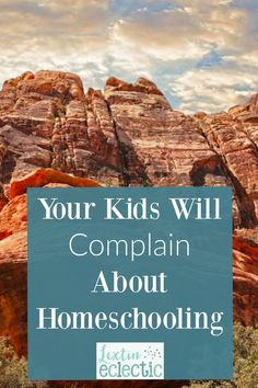 If you are a homeschool mom you've probably already discovered that there will be times when your kids complain about doing school work. Well, you are not alone. And here are some tips for what you can do.