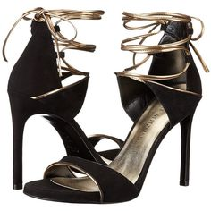 Stuart Weitzman Skydive (Black Suede) Women's Shoes ($223) ❤ liked on Polyvore featuring shoes, sandals, black, black platform sandals, black sandals, ankle wrap sandals, platform shoes and high heel sandals