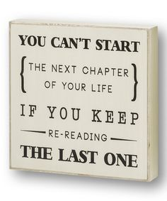 This White 'You Can't Start' Wall Sign is perfect! #zulilyfinds
