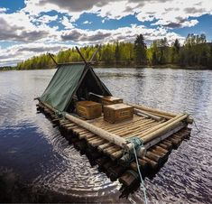 A year ago today I was drifting downstream on this raft we built in Sweden. The film of the trip is ace: http://ift.tt/29vZ95I Thanks to @BrucejDuncan @studiocanoe @haglofs et al for the good company! #ForTheLoveOfNature