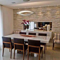 55 The Best Modern Dinner Table Design – Top Trend – Decor – Life Style Dining Table Design, Modern Dining Table, Dining Area, Dining Room Walls, Dining Room Lighting, Home Deco, Küchen Design, House Design, Design Ideas