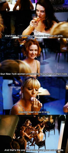 """And there in the same city.."" ~ SATC Quotes ~ Sex and the City (2008) ~ Movie Quotes"