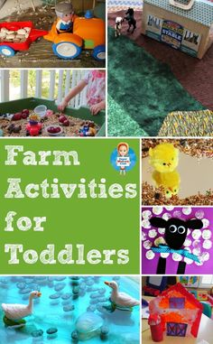Fun farm activities for toddlers to help your tot learn all about farm animals, includes Small World, crafts and book suggestions Farm Animals For Toddler, Toddler Fun, Toddler Crafts, Farm Kids, Farm Activities, Animal Activities, Preschool Activities, Preschool Farm, Farm Unit