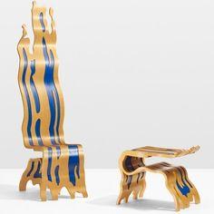 Coming up @wright Masterworks the #brushstroke #chair and #ottoman by #roylichtenstein #1986 #furniture #furnituredesign