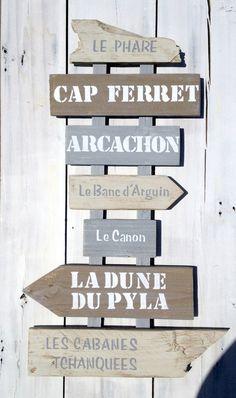 Panneau 7 directions personnalisable avec flèches en bois de palette : Décorations murales par littlepalette