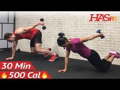 30 Minute HIIT Workout for Fat Loss & Strength - Dumbbell Full Body HIIT Home Workout with Weights - YouTube