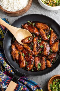 Asian Sprite Chicken - delicious tender strips of chicken in a sweet spicy asian style sauce made with sprite soda. Slimming World and Weight Watchers friendly Slimming World Chicken Recipes, Easy Chicken Recipes, Asian Recipes, Slimming Recipes, Asian Foods, Good Healthy Recipes, Low Calorie Recipes, Free Recipes, Slow Cooker Recipes