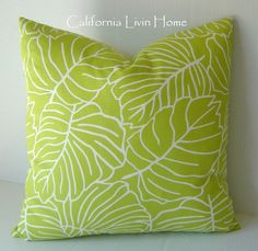 Bright lime green pillow