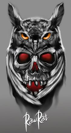 i just broke up with someone Owl Skull Tattoos, Evil Skull Tattoo, Owl Tattoo Drawings, Skull Girl Tattoo, Gothic Tattoo, Tattoo Sketches, Fish Tattoos, Owl Tattoo Design, Tattoo Sleeve Designs
