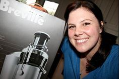 Stephanie J. from Nashville smiles next to her favorite Bed Bath & Beyond product, her Breville juicer! She was named our week 1 Fan of the Week winner and the recipient of a 50 dollar gift card! If you want a chance to win, visit this link for information: https://www.facebook.com/BedBathAndBeyond/app_501568196537223