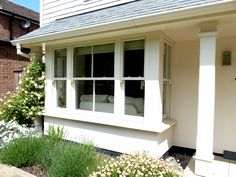 Characterful exterior design with modern convenience Porch Uk, House With Porch, House Front, Front Porch, Porch Windows, House Windows, Bay Windows, Casement Windows, House Extension Design